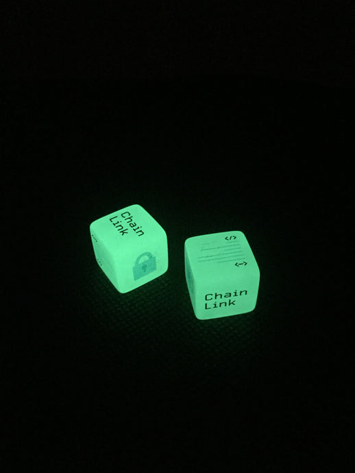 ChainLink Glow Dice, ChainLink Glow In The Dark Dice!!! BUY IN LOTS OF 2 AND SAVE!!!
