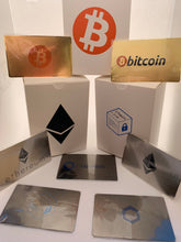 Load image into Gallery viewer, CryptoCurrency Hard Steel Wallet Address Card with Designer Drawer box ChainLink (LINK)