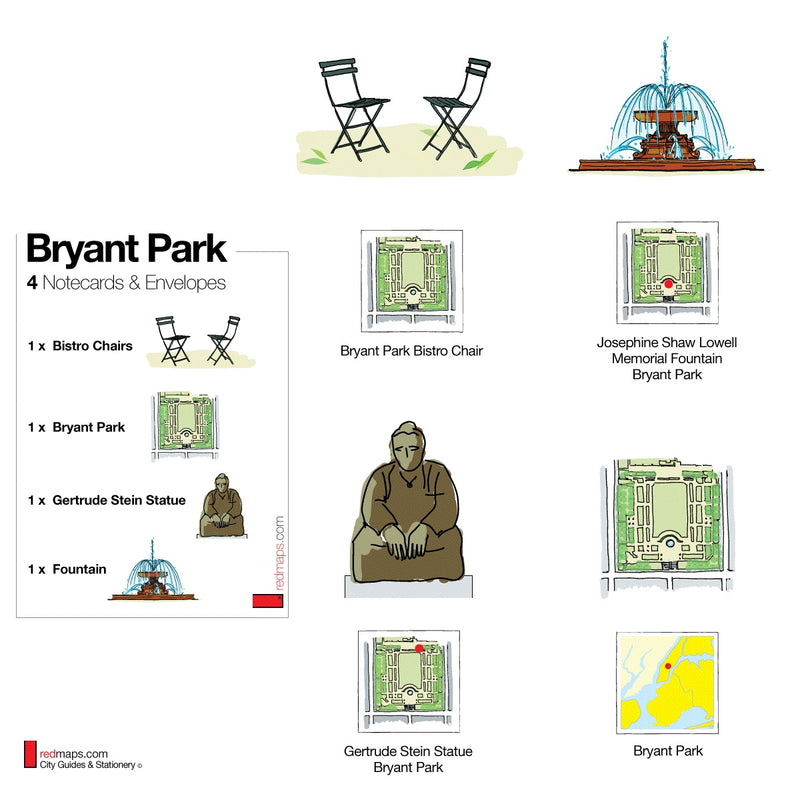 Bryant Park Set of 4 Note Cards