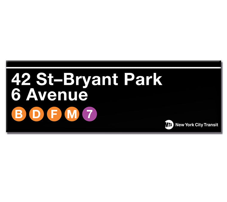 42nd St-Bryant Park Subway Magnet