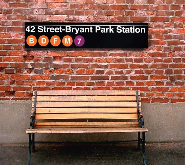 5' Bryant Park Subway Sign