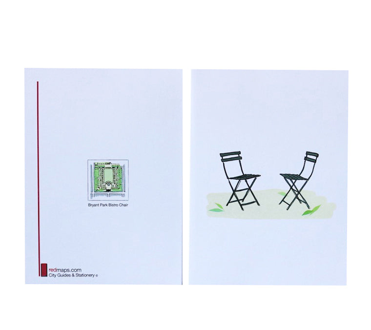 Bistro Chairs Note Card