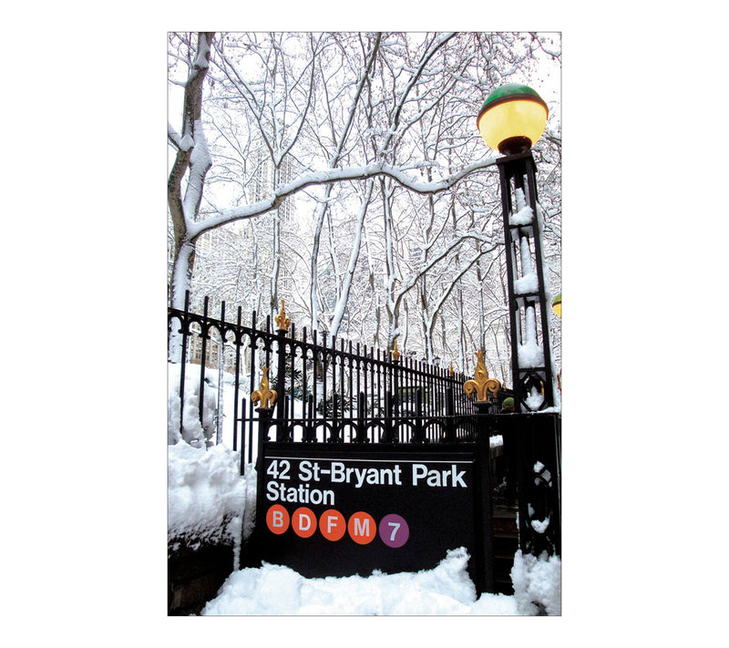 Snowy Subway Postcard