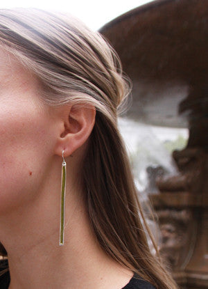 Lawn Green Earrings