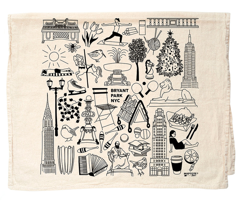 Iconic Bryant Park Tea Towel
