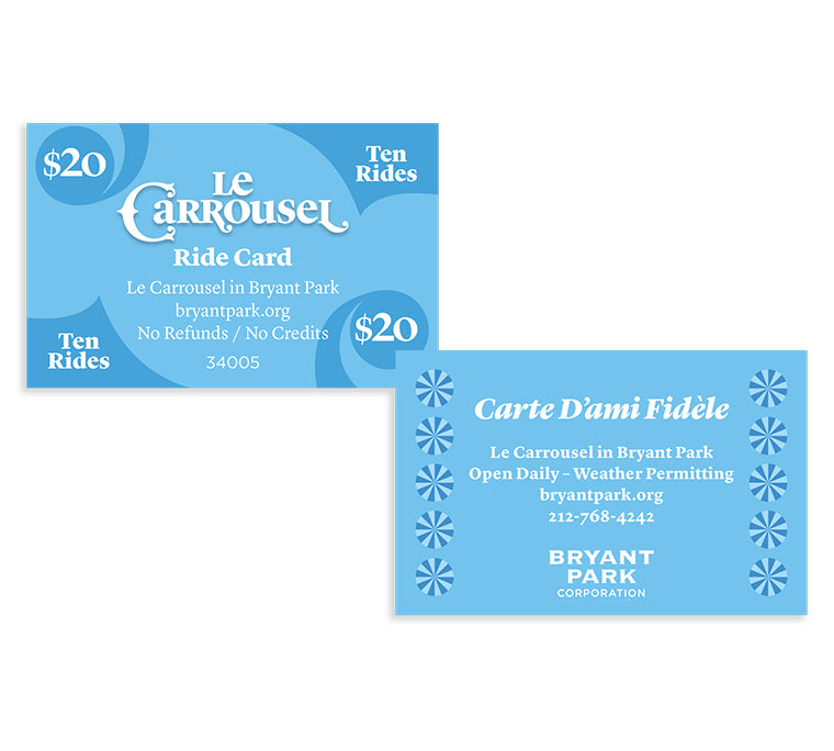 Le Carrousel 10-Ride Discount Card