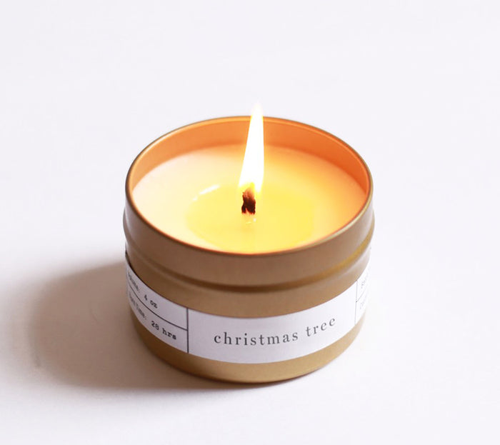 Christmas Tree Travel Candle