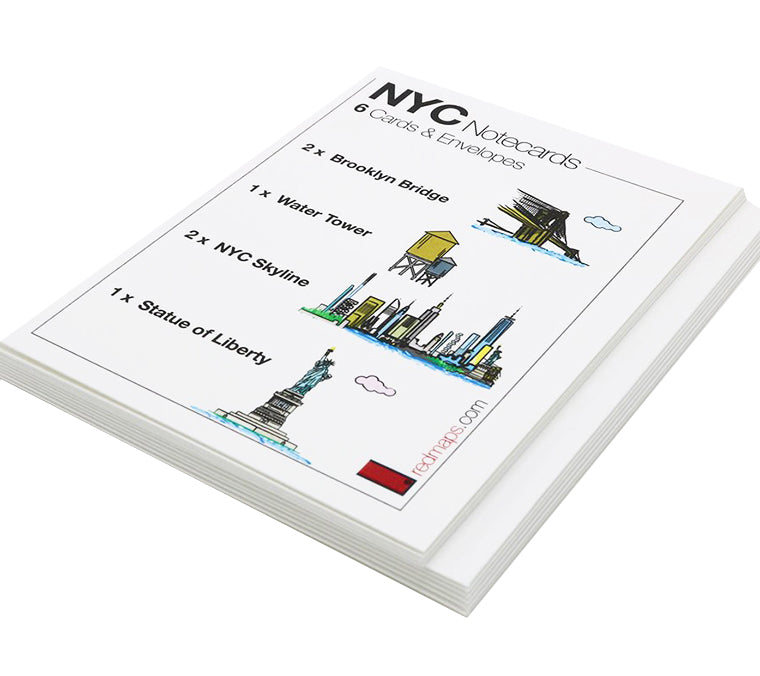 New York Set of 6 Note Cards
