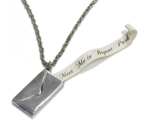 """Meet Me in Bryant Park"" Envelope Pendant"