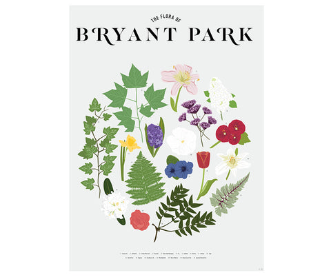 Flora of Bryant Park Poster
