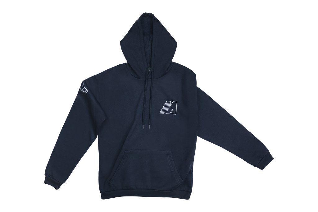 AA HOODED SWEATSHIRT BLU LORD