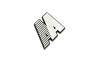 AA LOGO BADGE BIANCO MARTINA