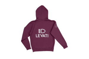 AA ZIP HOODED SWEATSHIRT LEVATI EDITION ROSSO BAROLO