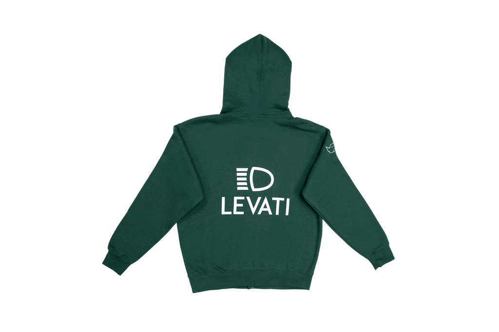 AA ZIP HOODED SWEATSHIRT LEVATI EDITION VERDE BRINZIO
