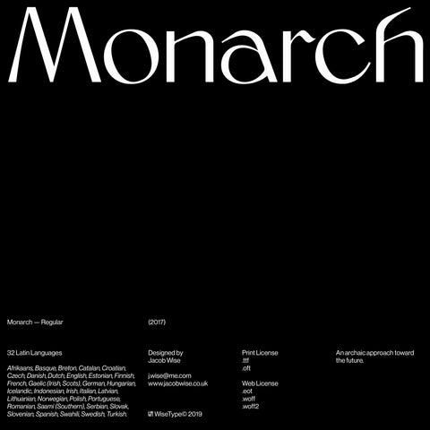 Monarch — Regular (Print License)
