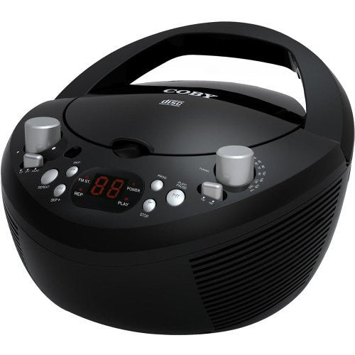 Coby CXCD251BLK Portable CD Player with AM/FM Radio, Black (Discontinued by manufacturer)