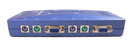 TRENDnet 4-Port PS/2 KVM SwitchKit (Includes 4x KVM Cables) TK-400K (Blue)