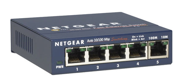 Netgear 5 Port Switch 10100 FS105NA  - New