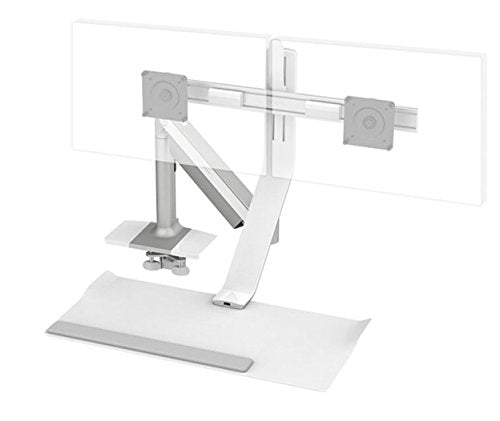 Humanscale Height Adjustable QuickStand Lite Desk: Dual Monitor Mount - Clamp Mount