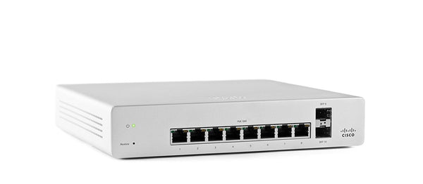 Cisco Meraki MS220-8-HW With Meraki MS220-8 Enterprise License and Support, 1 Year