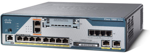 C1861-UC-4FXO-K9 Cisco 1861 Integrated Services Router 8U CME CUE PH LIC 4FXS 4FXO 8XPOE HWIC SLOT *NMPO*