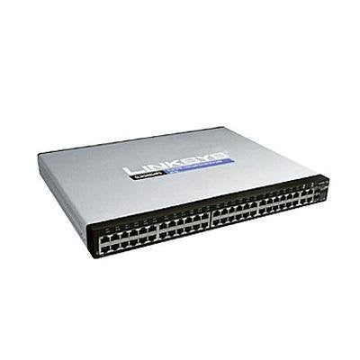 Linksys by Cisco SLM248G4PS 48-port 10/100 + 4-port Gigabit Smart Switch - PoE