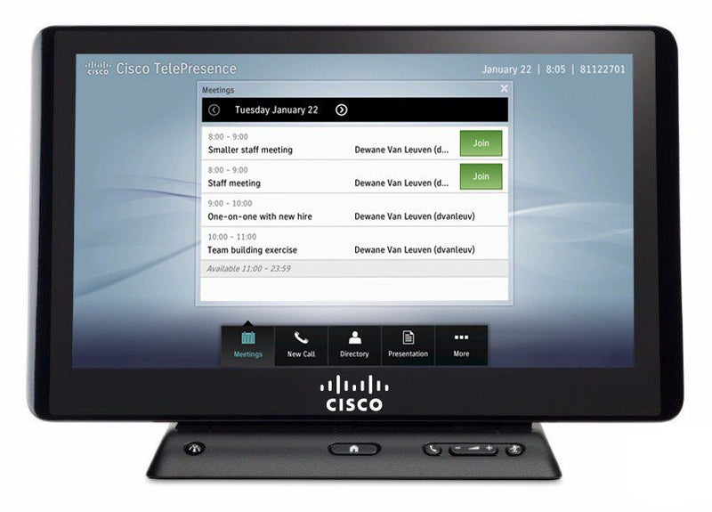 "Cisco/Tandberg CTS-CTRL-DV12 Telepresence 12"" Touch-Screen Controller includes touch screen controller, cables, accessories."
