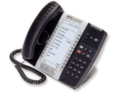 Mitel 5340E VOIP Phone w/Big Backlit Display. SIP/MiNet, GigEth, 48 Key, PoE/AC