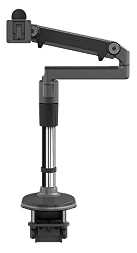 Humanscale M/Flex Single-Monitor Arm, Silver with Gray Trim, Bolt Mount