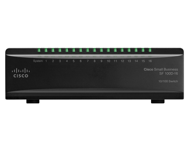 CISCO SYSTEMS SF100D-16-NA 16 Port 10/100 Desktop Switch