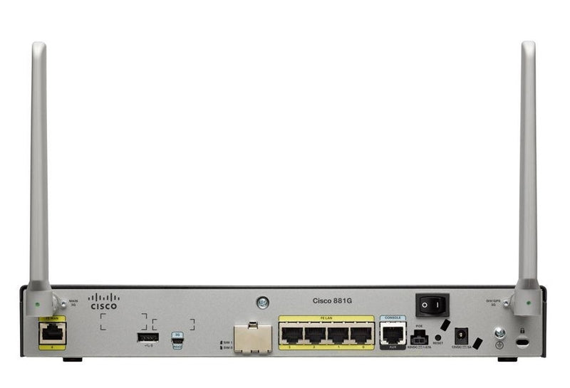 Cisco C881G+7-A-K9 881G Integrated Service Router with Embedded 3.7G Mobile Wireless WAN