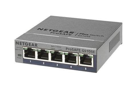 Netgear GS105E ProSAFE Plus 5-port Switch