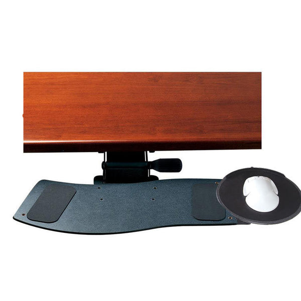 "Humanscale 300 Curved Keyboard Tray with 2G Arm Mechanism, 22"" Track and Gel Palm Rest"