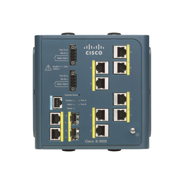 Cisco IE-3000-8TC-E 8-port Industrial Ethernet 3000 Series with 2x Gigabit SFP