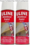 Tan Maskout Spray Paint - 13ozs, 2 Pack. Perfect for repainting cardboard boxes