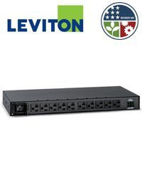 Leviton MH101-1D1 120V 20A Metered Intelligent Horizontal PDU 10 Receptacle