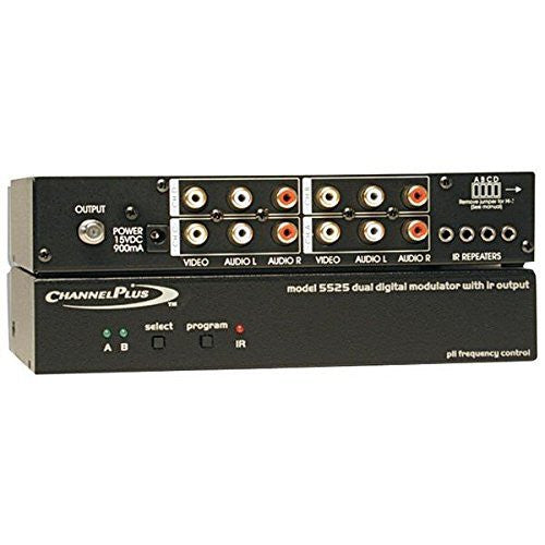 CHANNEL PLUS 5525 Deluxe Series Modulator with IR Emitter Ports (Dual Source)