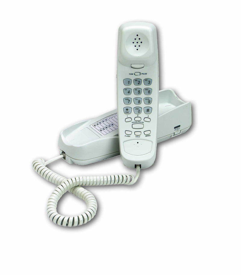 Cortelco TrimLine Long-Reach Phone with 24 foot handset cord, Illuminated Display, Wallmount, 1 Yr Warranty (Frost/Off-White)