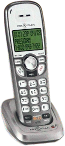 DECT 6.0 Cordless Accessory Handset with Base (For Presidian, Uniden, Panasonic, AT&T, & Vtech Cordless Phone Systems)