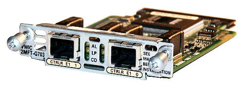 Cisco VWIC3-2MFT-G703 2-Port G.703 Multiflex VWIC Card
