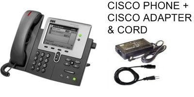 New Cisco 7941G SIP Phone with New Genuine Cisco Adapter +power cord.