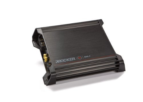 Kicker DX500.1 Mono Subwoofer Amplifier, 500 Watts RMS x 1 at 2 ohms