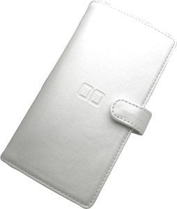 Nintendo DS Game Card Case Leather Type - White