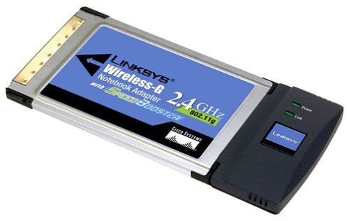 Cisco-Linksys WPC54GS Wireless-G Notebook Adapter with SpeedBooster