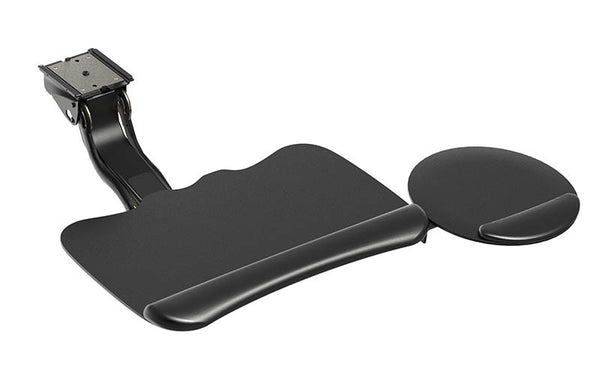 "Clip Mouse Keyboard System with 5G Arm High Clip Mouse: 8.5"" Mousing Surface, Synthetic Leather Palm Support: Gel Core"