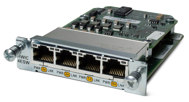 Cisco HWIC-4ESW-POE 4 Port POE High Speed WIC