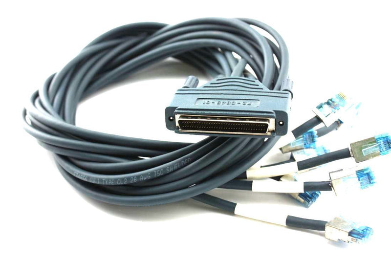 Cisco CAB-OCTAL-ASYNC 8 Lead Octal Cable 68 Pin To 8 Male RJ45