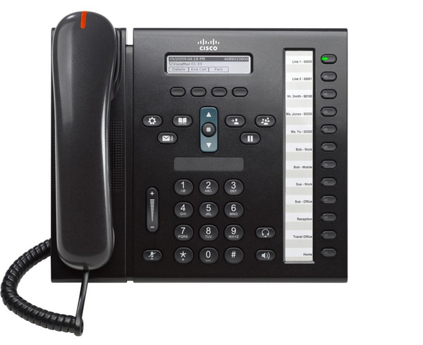 Cisco CP-6961-C-K9 Unified IP Phone-Charcoal Black