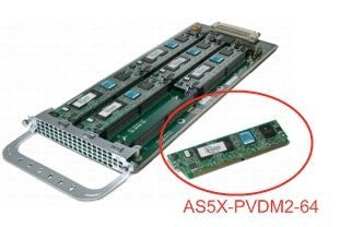 AS5X-PVDM2-64 Cisco AS5X-PVDM2-64 High Density Packet Voice/Fax DSP Module AS5X-PVDM2-64
