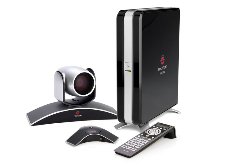 Polycom 7200-23130-001 HDX 7000-720: HDX 7000 HD codec, EagleEye camera, HDX mic array, and Remote
